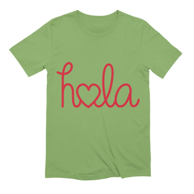 Hola - Hello, Love Men's Extra Soft T-Shirt by Illustrations by Phil