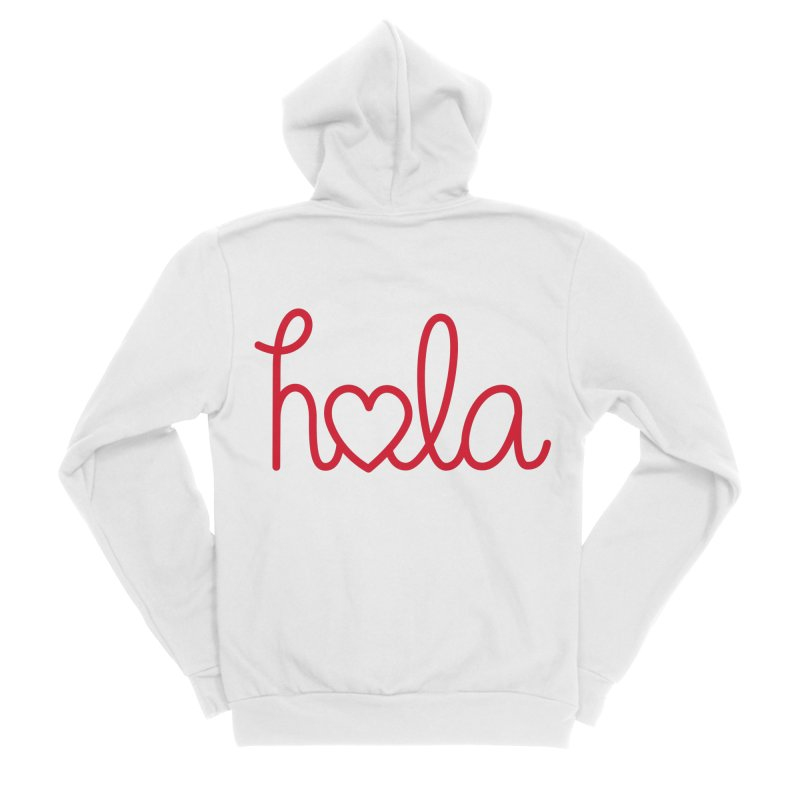 Hola - Hello, Love Women's Sponge Fleece Zip-Up Hoody by Illustrations by Phil