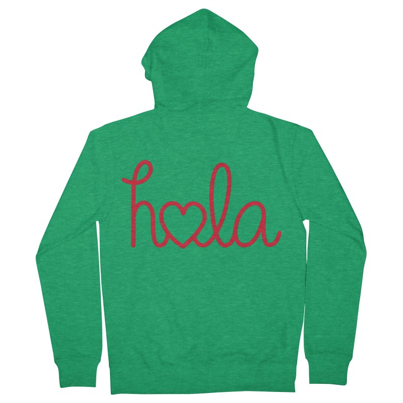Hola - Hello, Love Women's French Terry Zip-Up Hoody by Illustrations by Phil