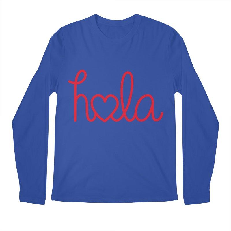 Hola - Hello, Love Men's Regular Longsleeve T-Shirt by Illustrations by Phil