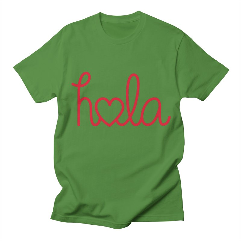 Hola - Hello, Love Women's Regular Unisex T-Shirt by Illustrations by Phil