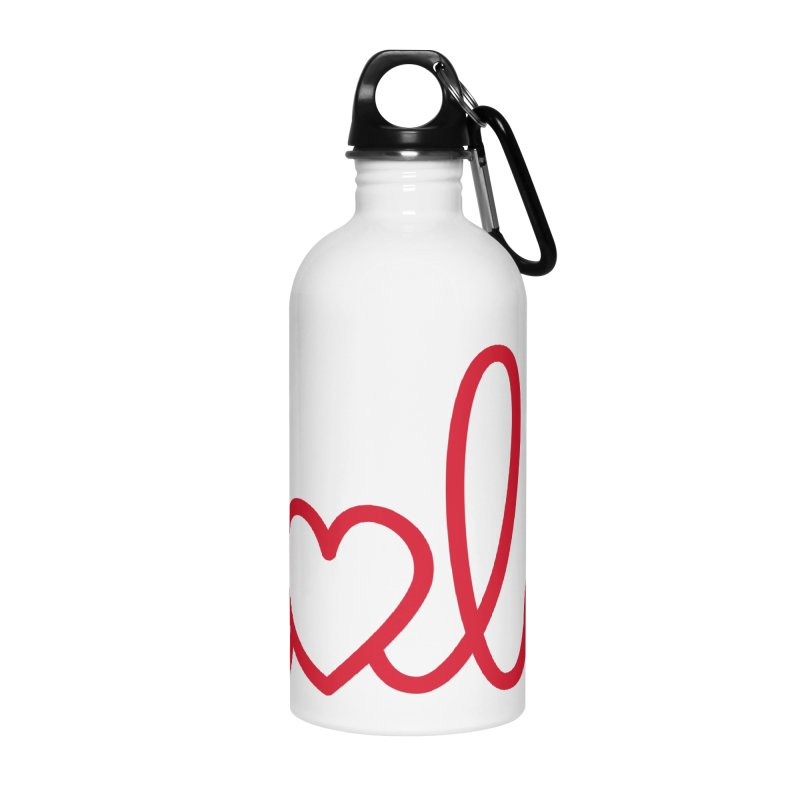 Hola - Hello, Love Accessories Water Bottle by Illustrations by Phil