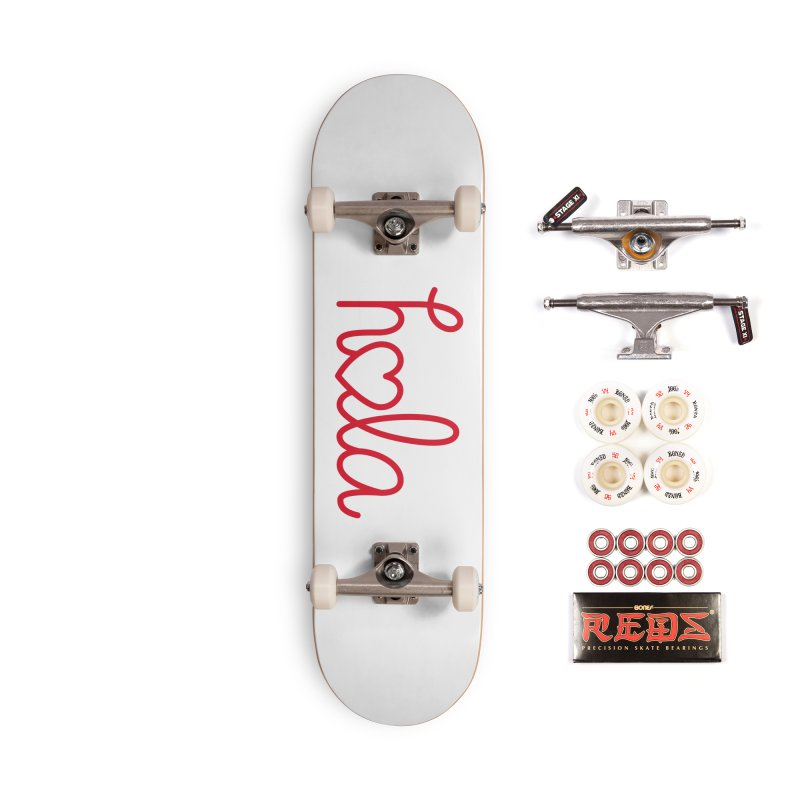 Hola - Hello, Love Accessories Complete - Pro Skateboard by Illustrations by Phil