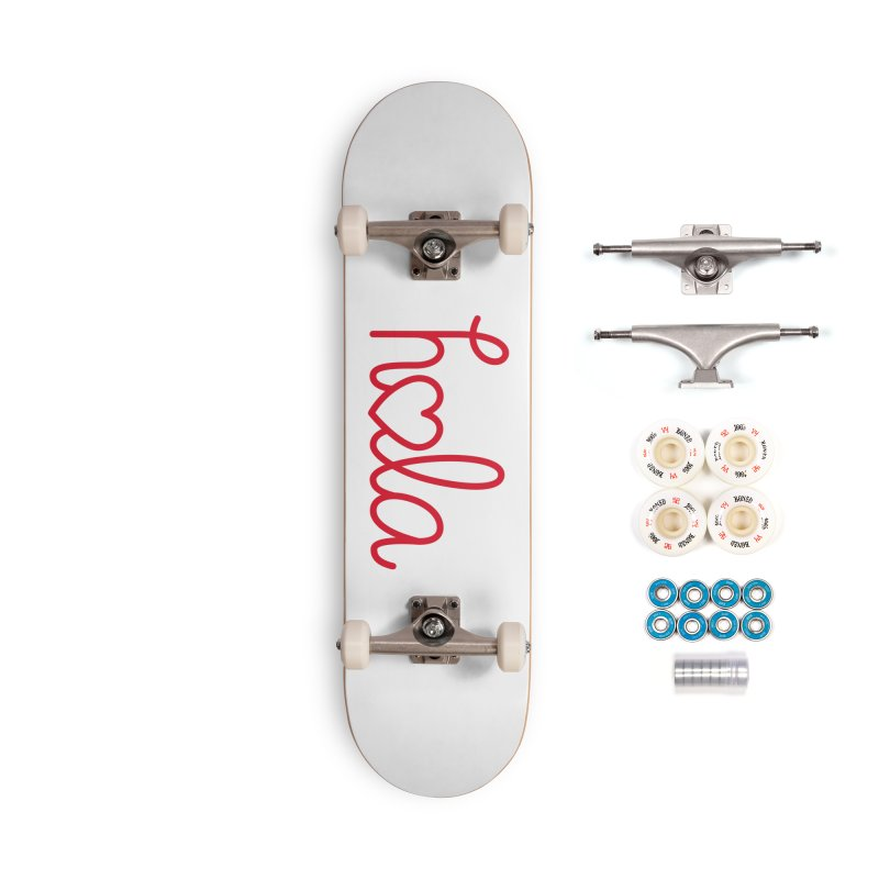 Hola - Hello, Love Accessories Complete - Premium Skateboard by Illustrations by Phil
