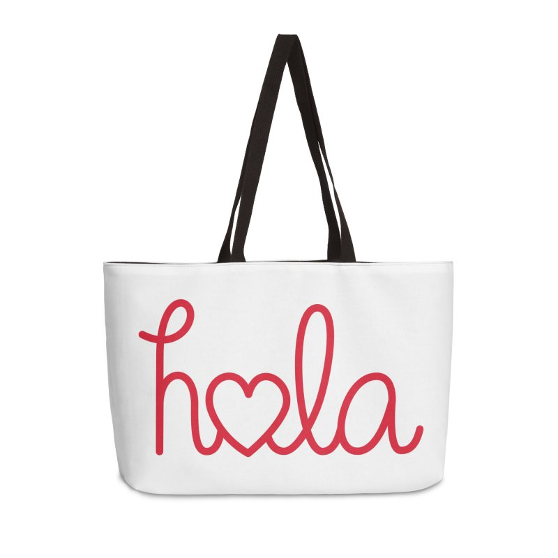 Hola - Hello, Love Accessories Weekender Bag Bag by Illustrations by Phil