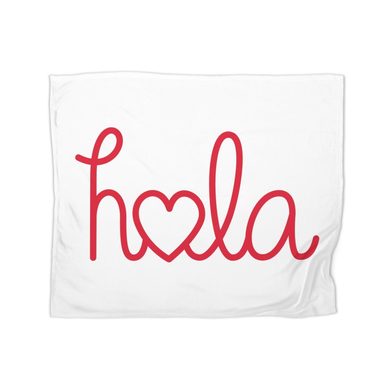 Hola - Hello, Love Home Fleece Blanket Blanket by Illustrations by Phil