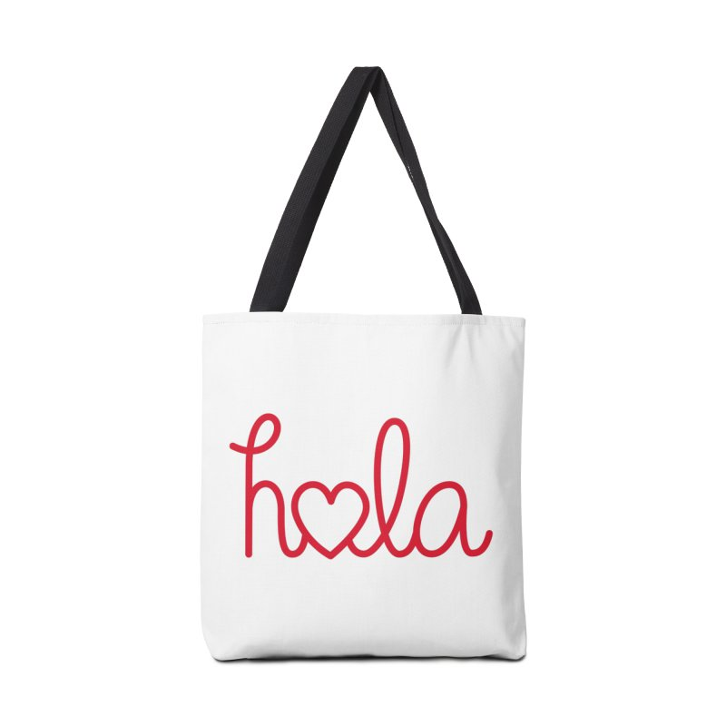Hola - Hello, Love Accessories Tote Bag Bag by Illustrations by Phil