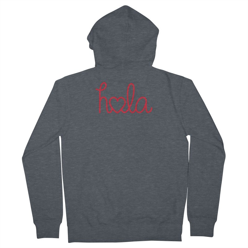 Hola - Hello, Love Men's French Terry Zip-Up Hoody by Illustrations by Phil