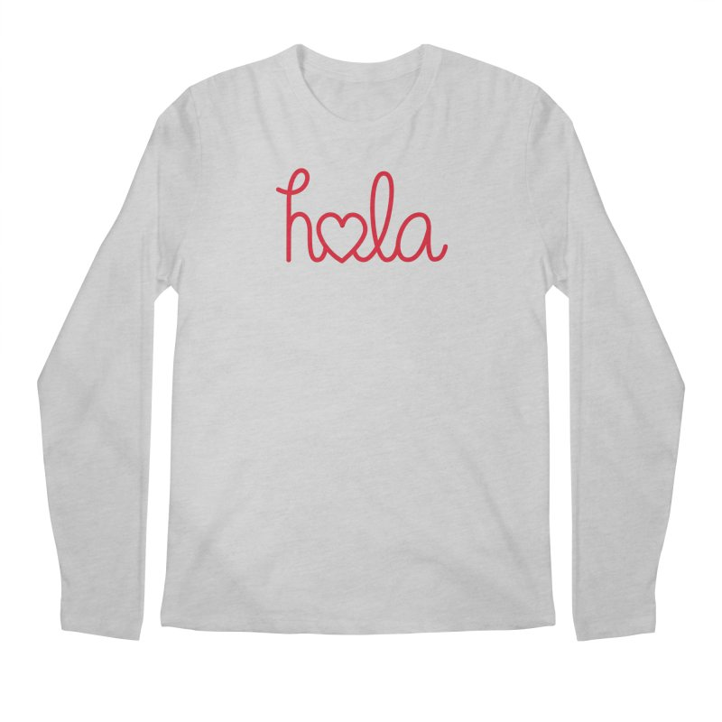 Hola - Hello, Love Men's Regular Longsleeve T-Shirt by Illustrations by Phil
