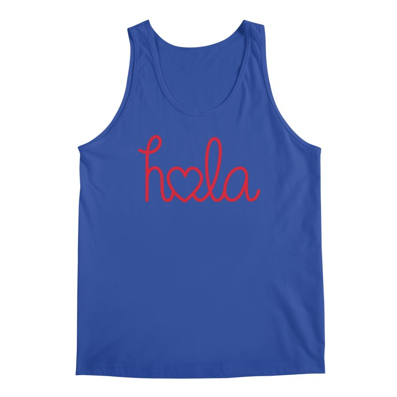 Hola - Hello, Love Men's Regular Tank by Illustrations by Phil