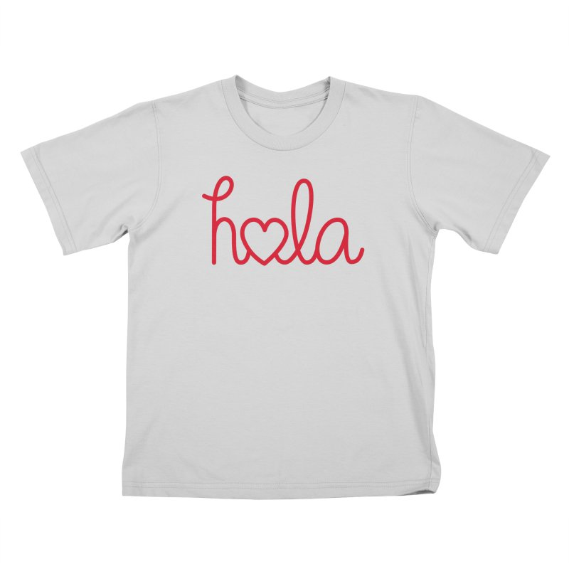 Hola - Hello, Love Kids T-Shirt by Illustrations by Phil