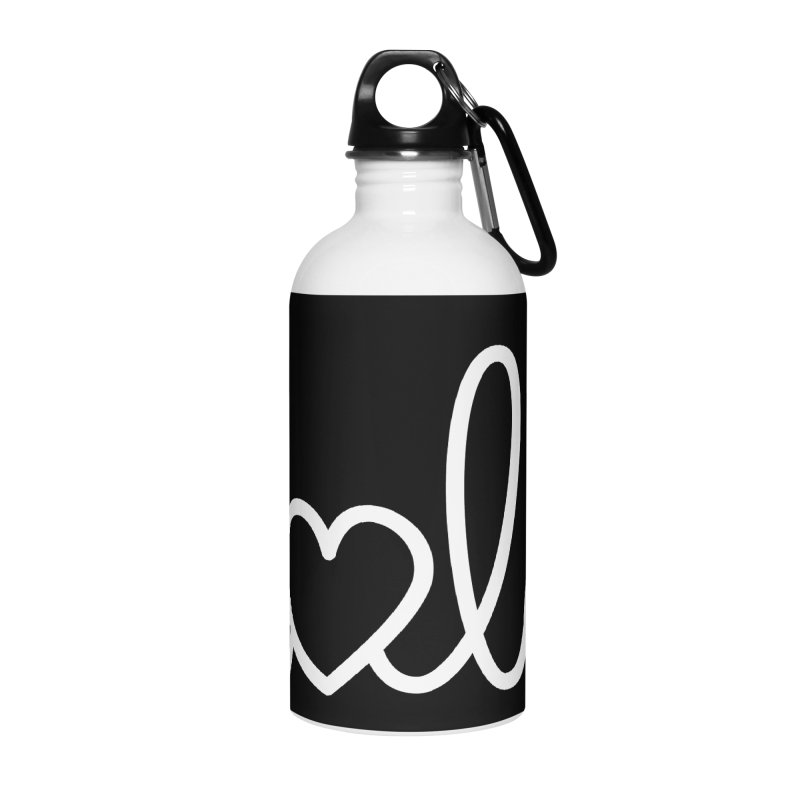 Hola - hello love, in Spanish Accessories Water Bottle by Illustrations by Phil