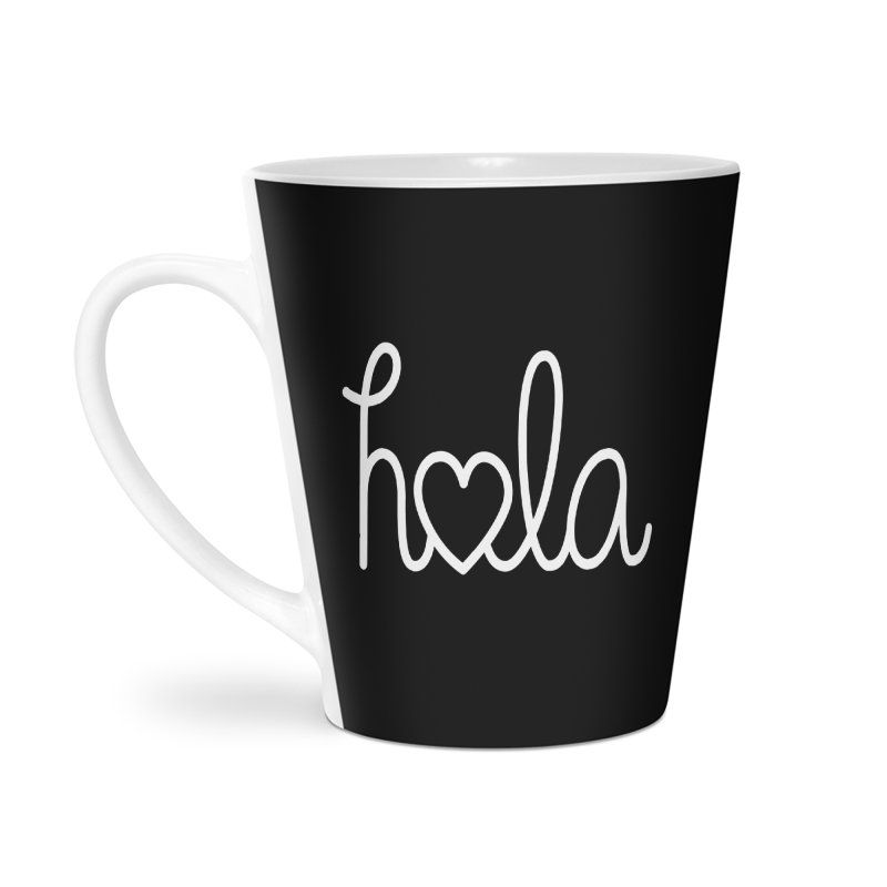 Hola - hello love, in Spanish Accessories Latte Mug by Illustrations by Phil