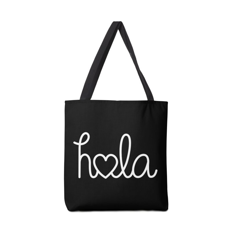 Hola - hello love, in Spanish Accessories Tote Bag Bag by Illustrations by Phil