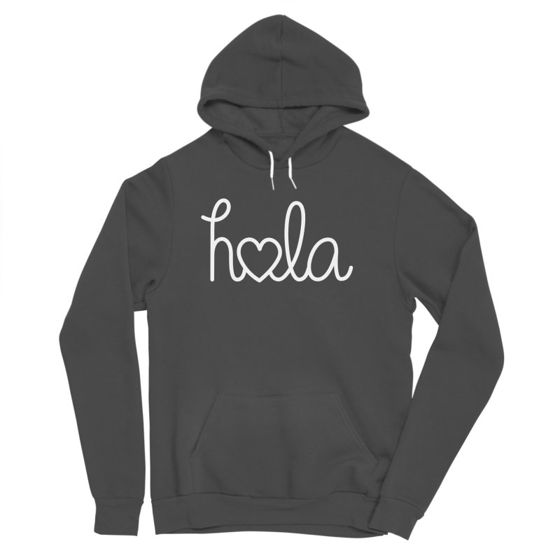 Hola - hello love, in Spanish Men's Sponge Fleece Pullover Hoody by Illustrations by Phil