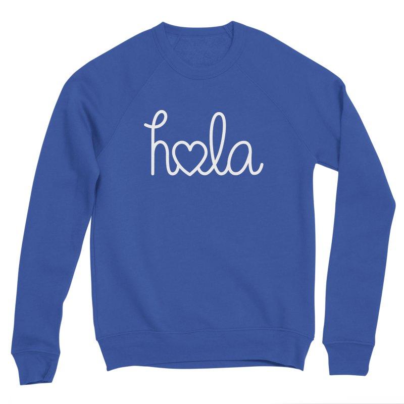 Hola - hello love, in Spanish Men's Sponge Fleece Sweatshirt by Illustrations by Phil