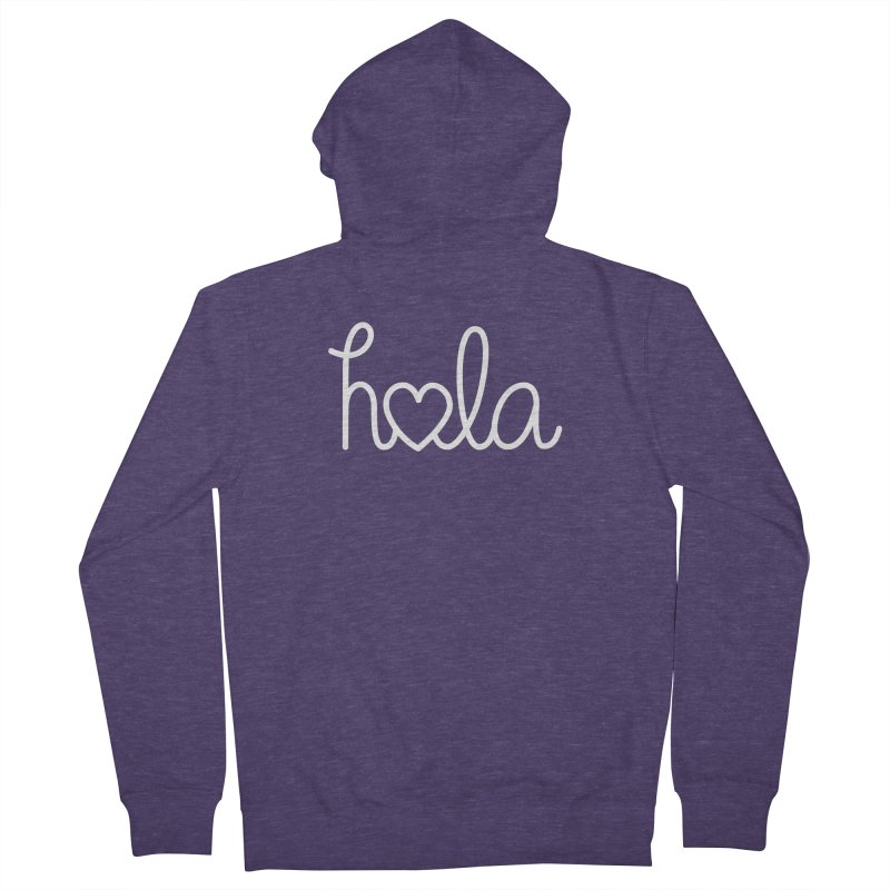 Hola - hello love, in Spanish Men's Zip-Up Hoody by Illustrations by Phil