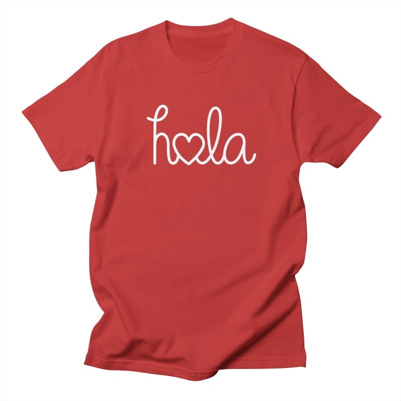 Hola - hello love, in Spanish Men's Regular T-Shirt by Illustrations by Phil