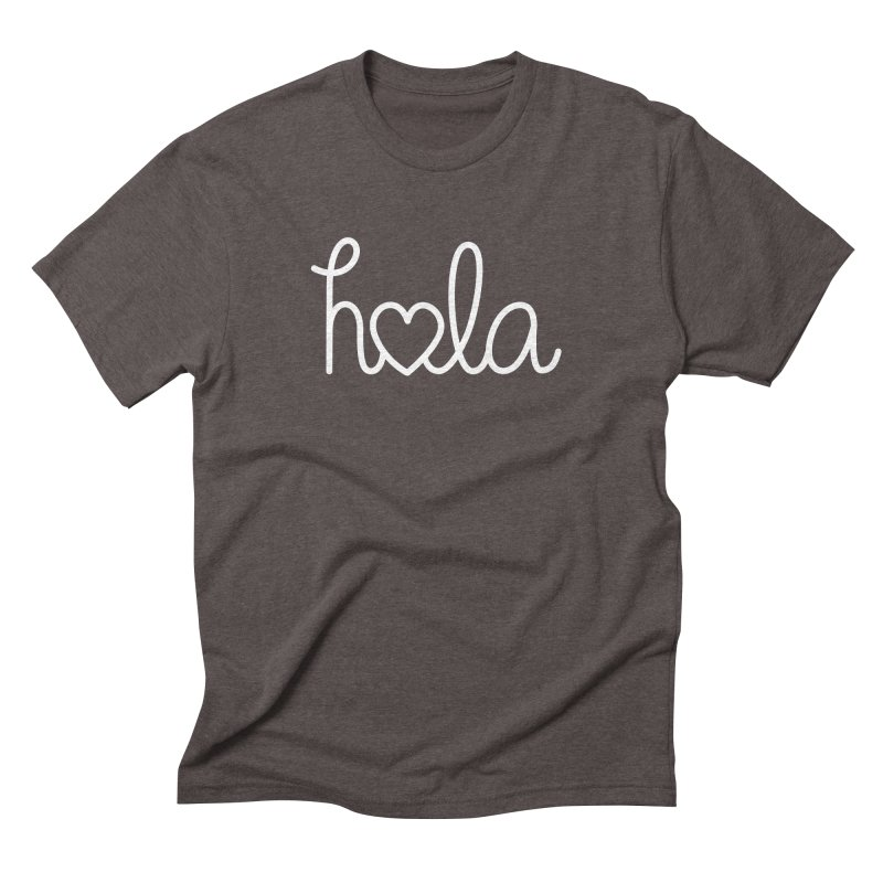 Hola - hello love, in Spanish Men's Triblend T-Shirt by Illustrations by Phil