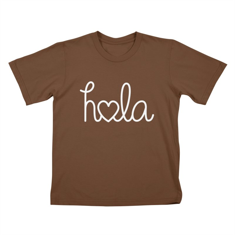 Hola - hello love, in Spanish Kids T-Shirt by Illustrations by Phil