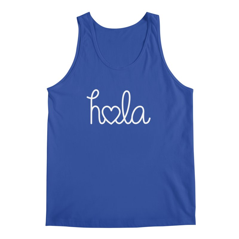 Hola - hello love, in Spanish Men's Regular Tank by Illustrations by Phil