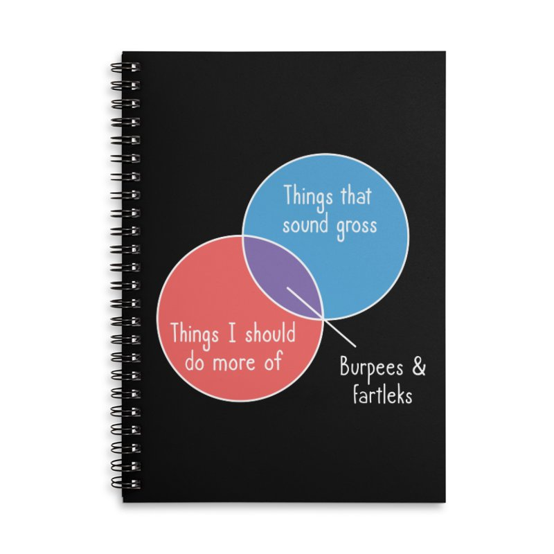 Burpees and Fartleks Accessories Lined Spiral Notebook by Illustrations by Phil