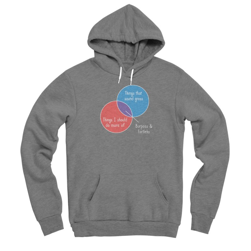Burpees and Fartleks Women's Sponge Fleece Pullover Hoody by Illustrations by Phil