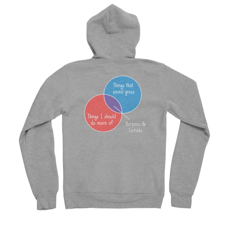 Burpees and Fartleks Men's Sponge Fleece Zip-Up Hoody by Illustrations by Phil