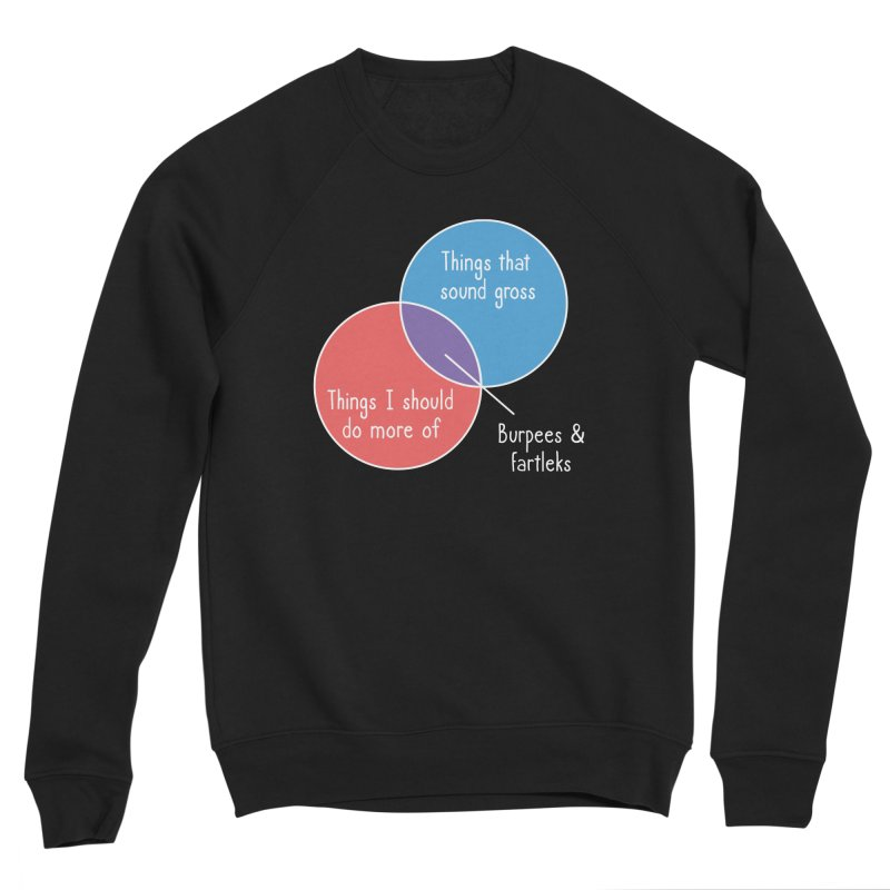 Burpees and Fartleks Women's Sponge Fleece Sweatshirt by Illustrations by Phil
