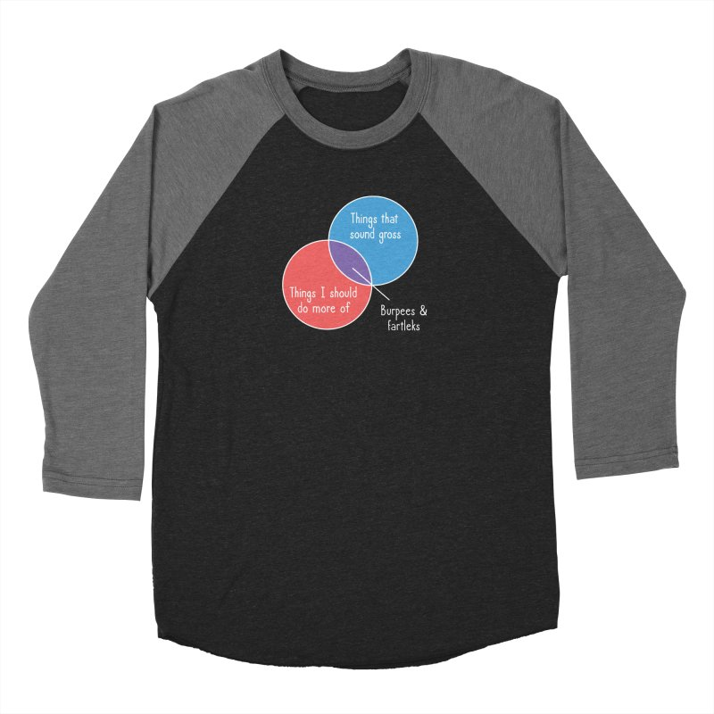 Burpees and Fartleks Men's Baseball Triblend Longsleeve T-Shirt by Illustrations by Phil