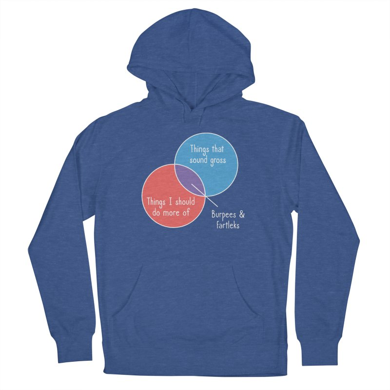Burpees and Fartleks Men's French Terry Pullover Hoody by Illustrations by Phil
