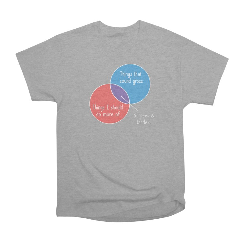 Burpees and Fartleks Women's Heavyweight Unisex T-Shirt by Illustrations by Phil
