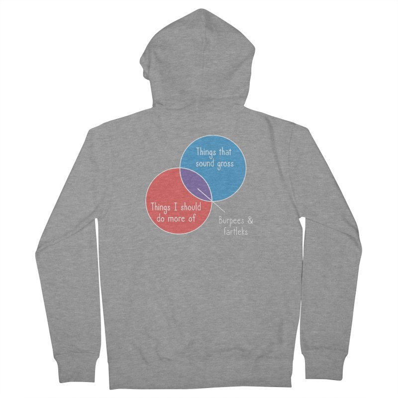 Burpees and Fartleks Women's French Terry Zip-Up Hoody by Illustrations by Phil