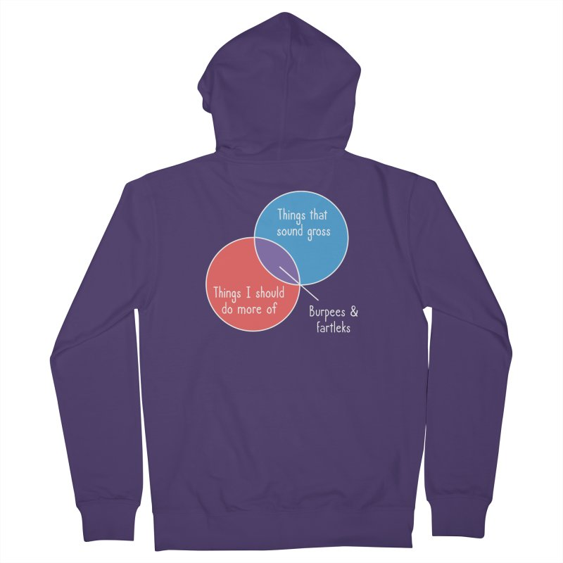Burpees and Fartleks Women's Zip-Up Hoody by Illustrations by Phil