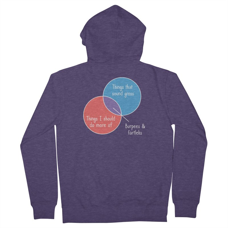 Burpees and Fartleks Men's French Terry Zip-Up Hoody by Illustrations by Phil