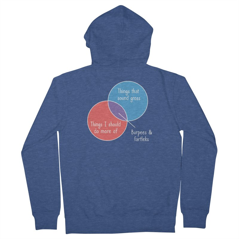 Burpees and Fartleks Men's Zip-Up Hoody by Illustrations by Phil