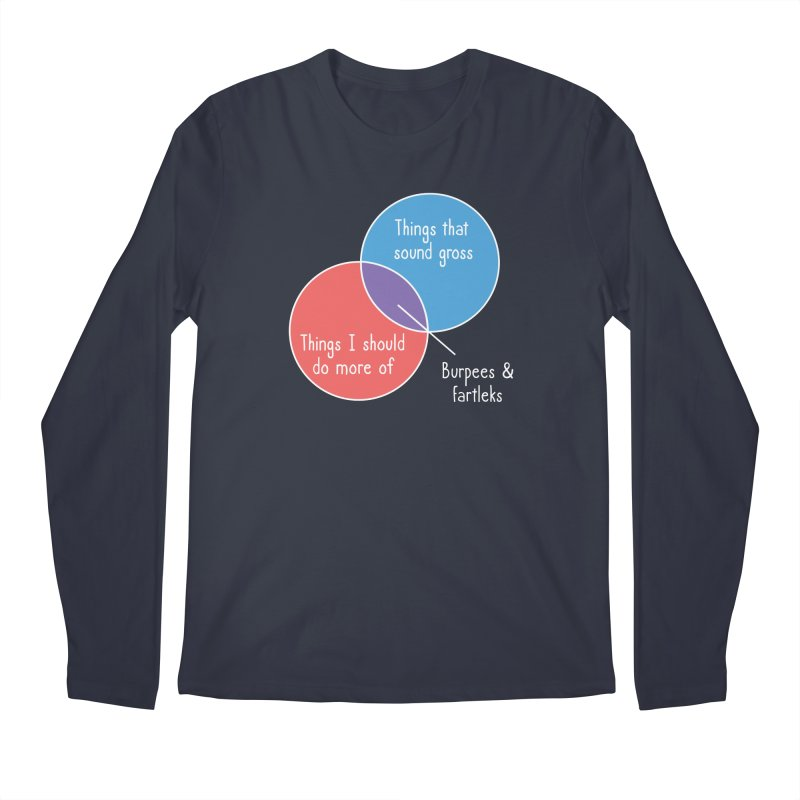 Burpees and Fartleks Men's Regular Longsleeve T-Shirt by Illustrations by Phil