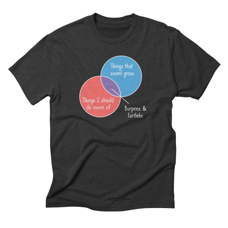 Burpees and Fartleks Men's Triblend T-Shirt by Illustrations by Phil