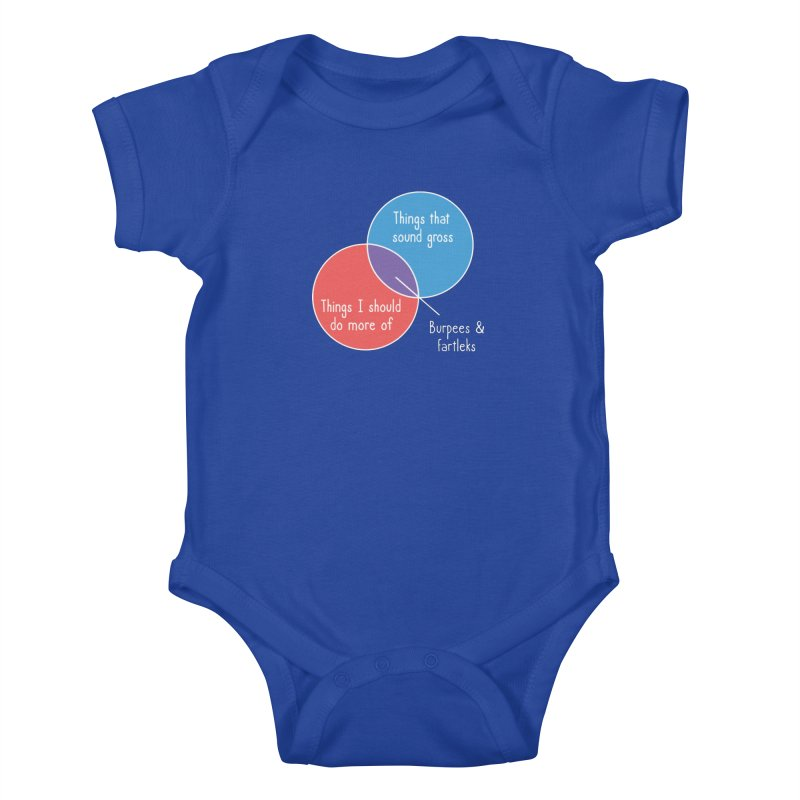 Burpees and Fartleks Kids Baby Bodysuit by Illustrations by Phil