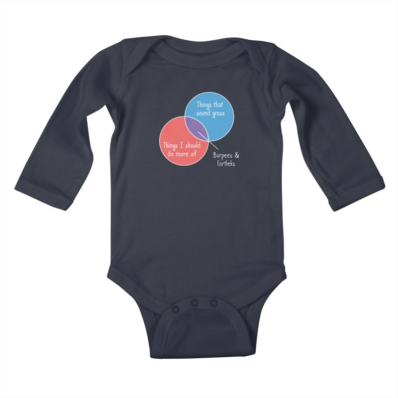 Burpees and Fartleks Kids Baby Longsleeve Bodysuit by Illustrations by Phil