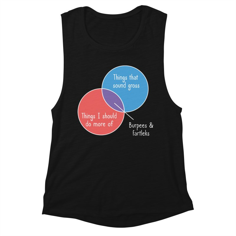 Burpees and Fartleks Women's Tank by Illustrations by Phil