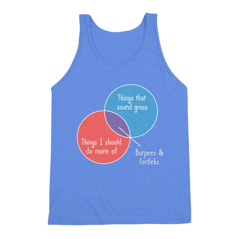 Burpees and Fartleks Men's Triblend Tank by Illustrations by Phil