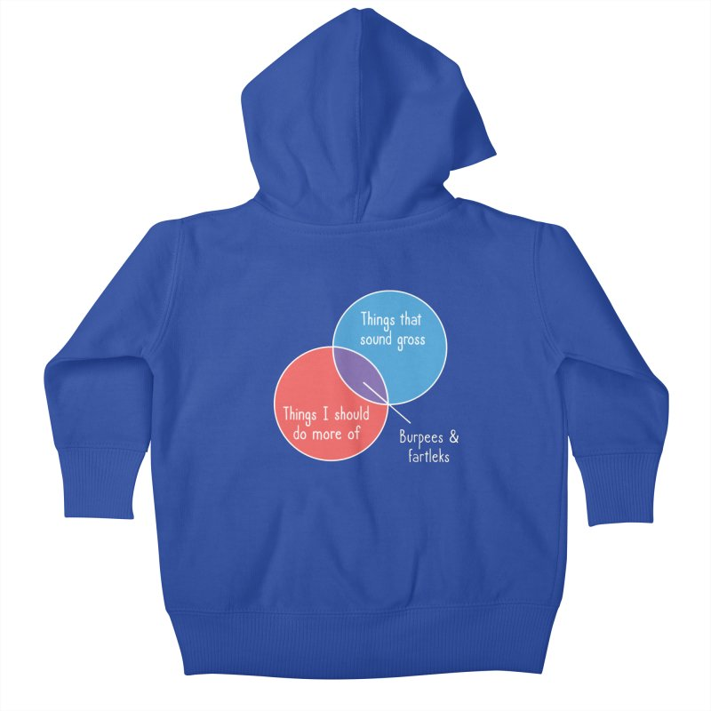 Burpees and Fartleks Kids Baby Zip-Up Hoody by Illustrations by Phil