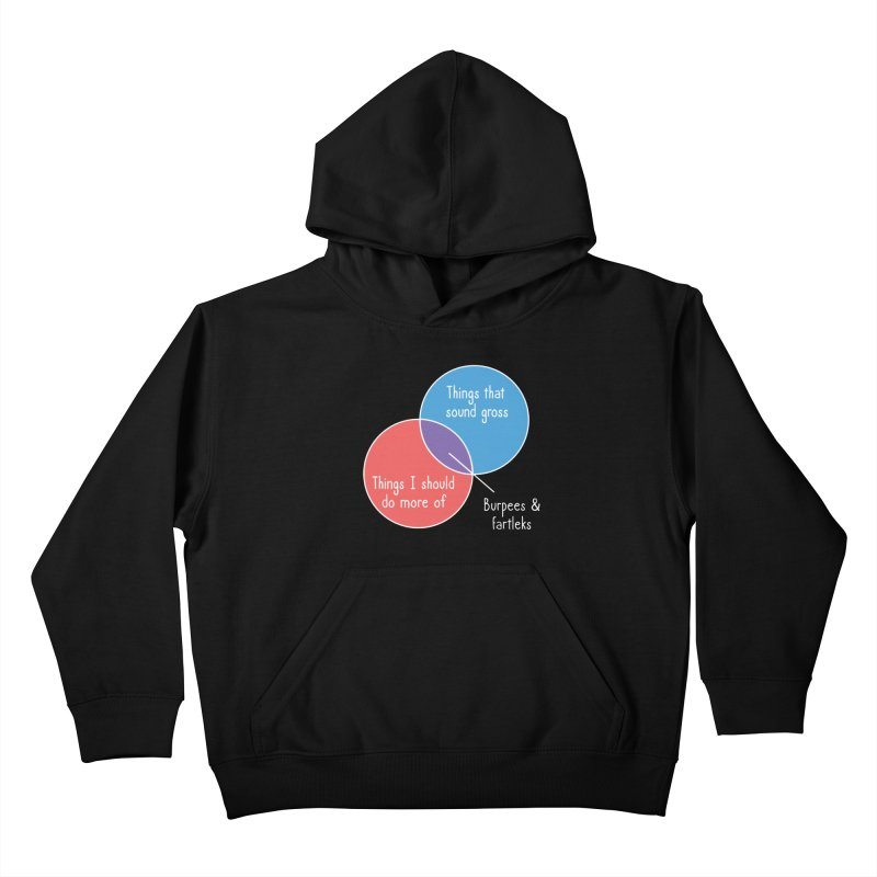 Burpees and Fartleks Kids Pullover Hoody by Illustrations by Phil