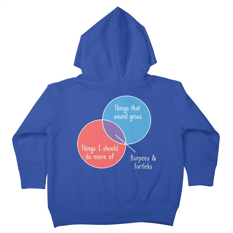 Burpees and Fartleks Kids Toddler Zip-Up Hoody by Illustrations by Phil