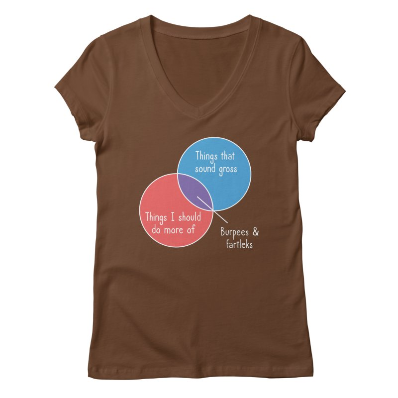 Burpees and Fartleks Women's Regular V-Neck by Illustrations by Phil