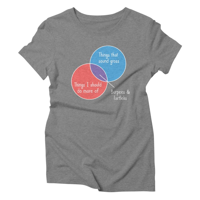 Burpees and Fartleks Women's Triblend T-Shirt by Illustrations by Phil