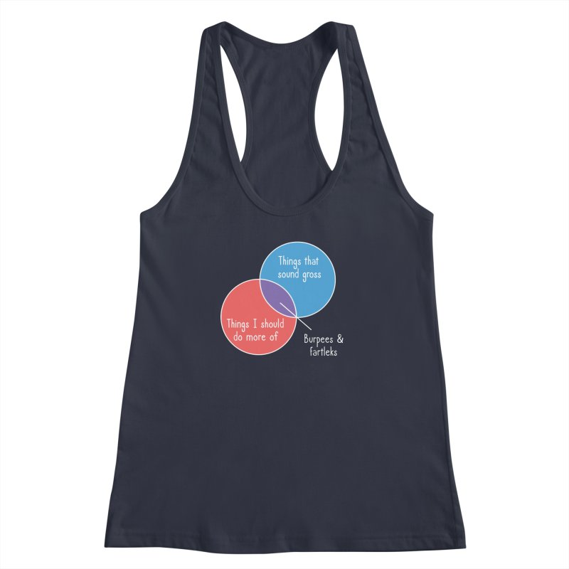 Burpees and Fartleks Women's Racerback Tank by Illustrations by Phil