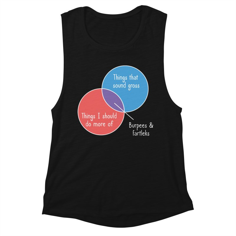 Burpees and Fartleks Women's Muscle Tank by Illustrations by Phil