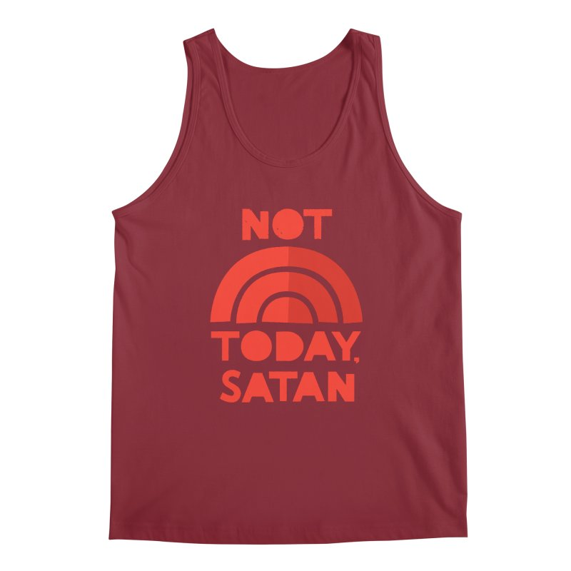 NOT TODAY, SATAN! Men's Tank by Illustrations by Phil